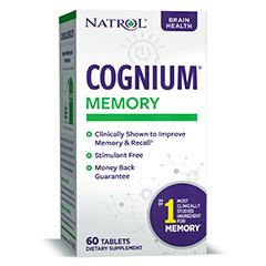 Natrol Cognium - Brain Vitamins & Memory Supplements