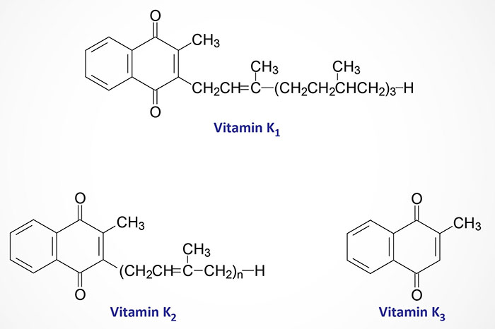 Structures of vitamin K molecules